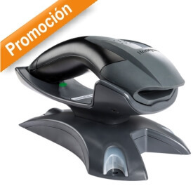 Pistola Honeywell Voyager 1202g-bf Bluetooth 10 mts+ 1D+IP42+sin bateria+USB Negra con base