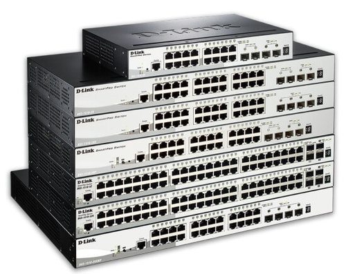 Switch 24x10-100-1000Tx PoE at + 4xSFP+ + SNMP + Rack 19 D-Link DGS-1510-28XMP