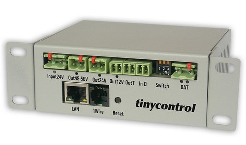 Conver. DC-> 3x DC 12-24-48-56V 120W Gestionable IP Tinycontrol