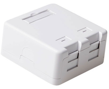 Caja Superficie SIN 2xRJ45H + Persiana + Keystone de ACT