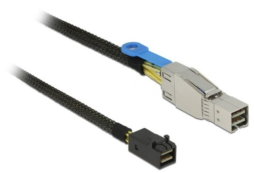 Cable Mini SAS 36 Pin SFF-8644 M <-> Mini SAS 36 Pin SFF-8643 M de 1 mts Delock