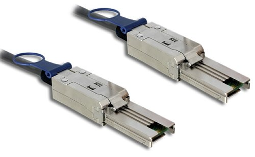 Cable Mini SAS 26 Pin SFF-8088 M <-> Mini SAS 26 Pin SFF-8088 M de 2 mts Delock