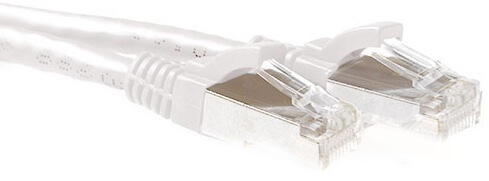 Lati. Cat6a RJ45 de 0.5 mts SSTP Blanco ACT
