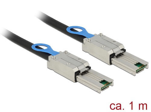 Cable Mini-SAS 26 pin SFF-8088 M <-> M Mini-SAS 26 pin SFF-8088 1 M Delock