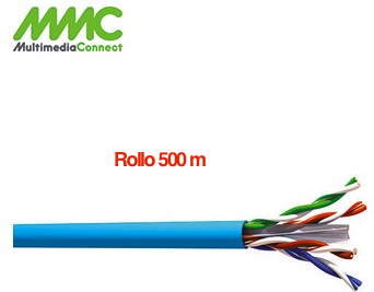 Cable UTP Cat6 Solido AWG23 LSZH Rollo 500 mts Azul MMC VG64SH5