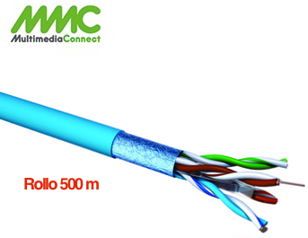 Cable FTP Cat6 Solido AWG23 LSZH Rollo 500 mts Azul Multimedia Connect CX64SH5