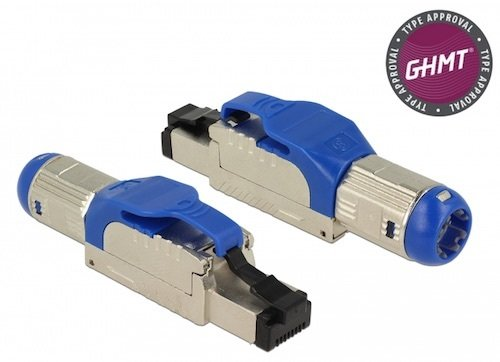 Conec. RJ45 M Cat. 8 2Ghz SSTP AWG 23-26 METAL sin herramienta cable 7-8.5 mm Delock