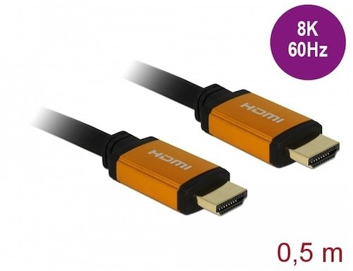 Cable HDMI 2.1 A M-M 48 Gbps 8K 60 Hz 0.5 mts Delock
