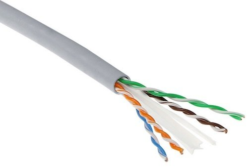 Cable UTP Cat6 Solido AWG24 PVC B2ca Rollo 500 mts Gris ACT